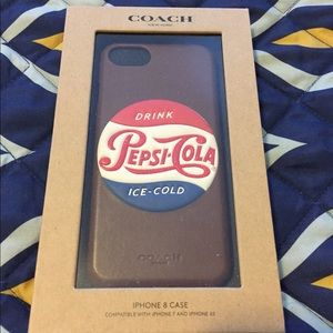 Coach Limited Edition Pepsi Leather iPhone Case